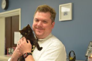 Dr Steve8 with kitten FINAL